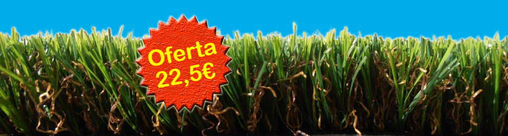 22,5€ Oferta Césped Artificial